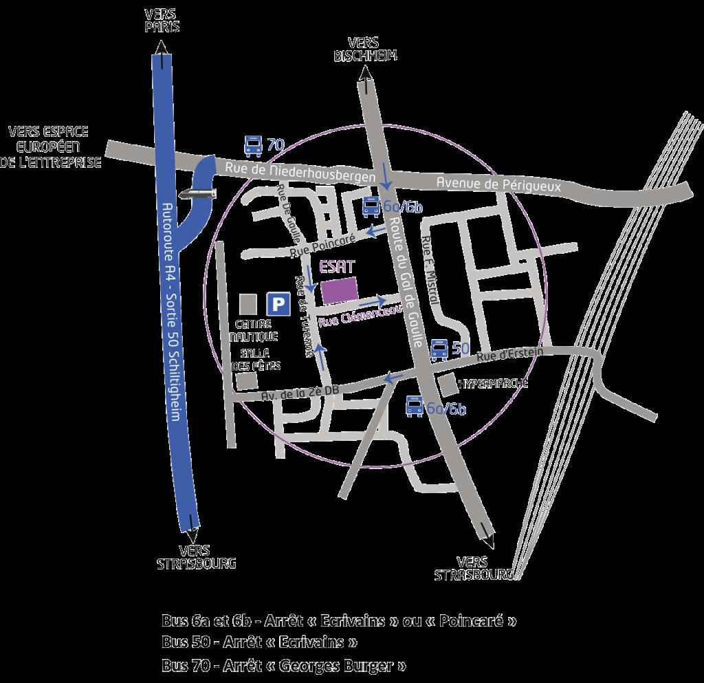 plan accès ESAT